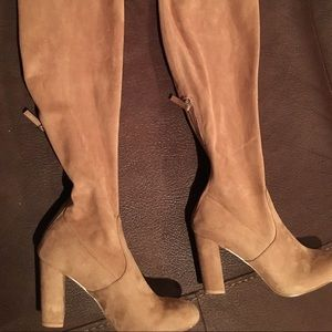 Steve Madden over the knee Tan ultra suede boots